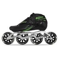 100% Original Bont Jet 2PT Speed Inline Skates Heatmoldable CarbonFiber Boot 4*90/100/110mm 6061 Frame G15 Wheel Skating Patines
