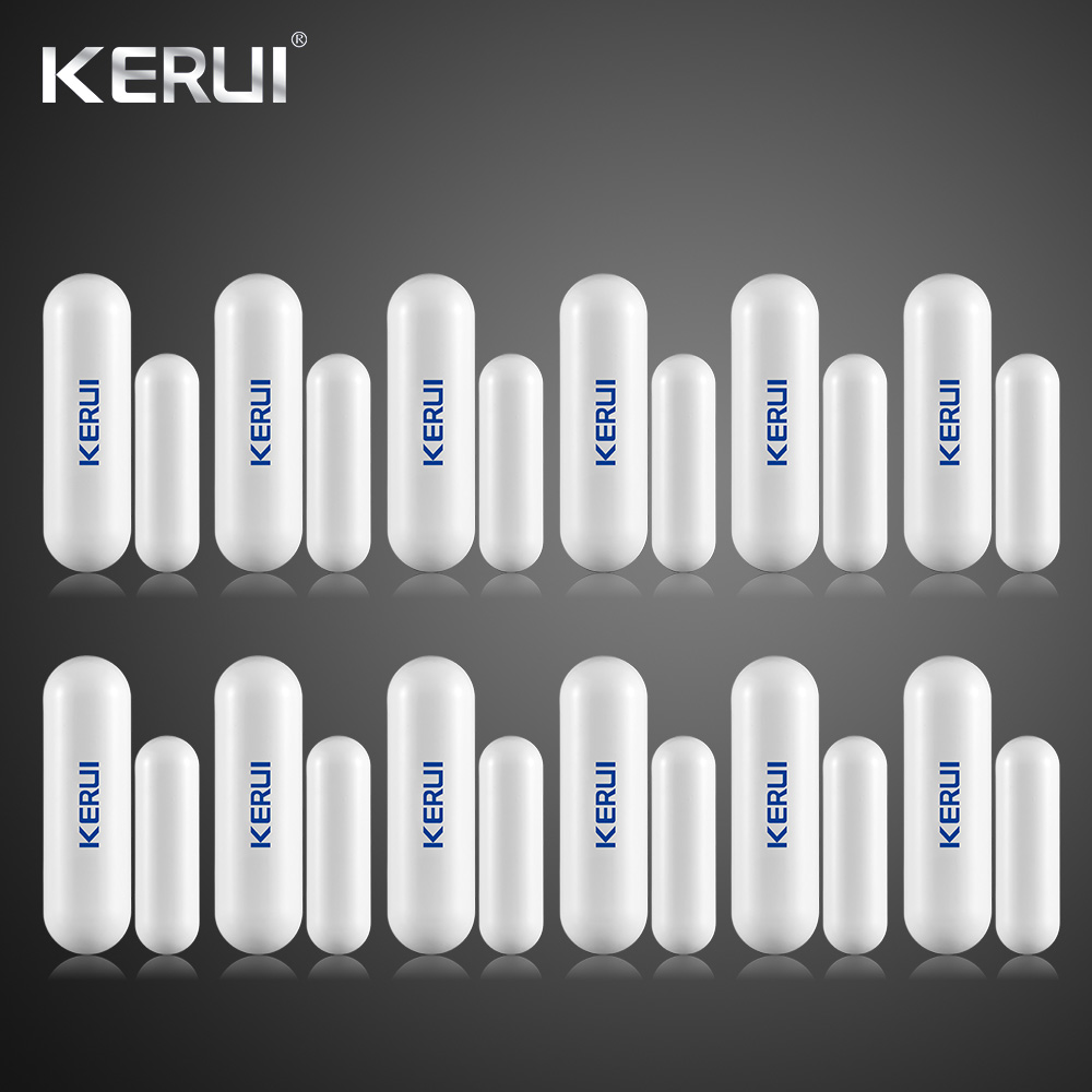 Wholesales 12pcs Kerui Wireless Door window Gap Sensor Anti tamper For KERUI Wifi GSM Alarm System