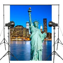 New York Statue of Liberty Photography Background Studio Props Wall Backdrop Manhattan scenery Theme 150x220cm