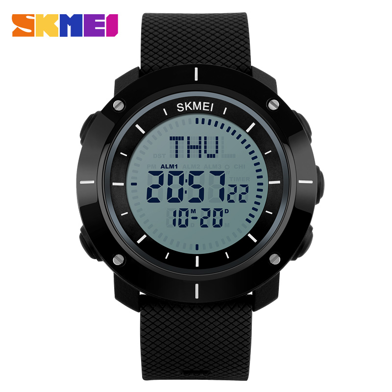 font b SKMEI b font Men s sport Digital watch Hours Running Swimming watches Compass