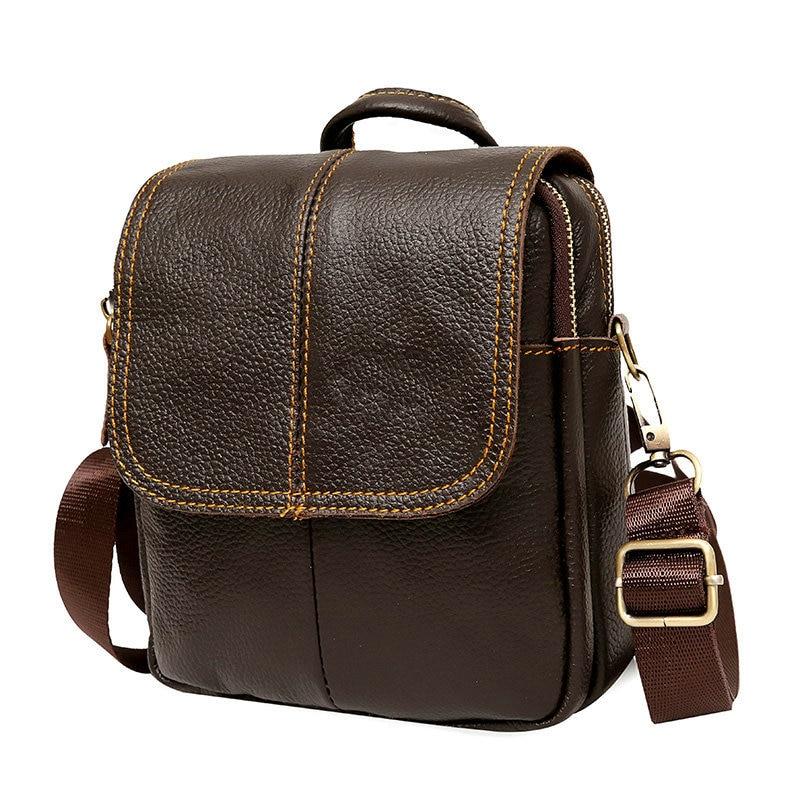 Guarantee Genuine Leather Bag Small Casual shoulder crossbody bags Brand Cowskin Men Messenger Bags Multifunction Waist Packs цены онлайн