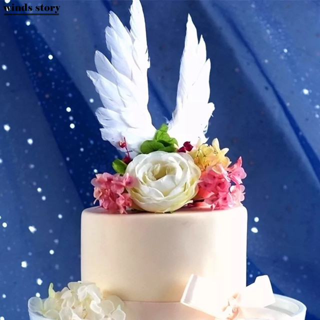 Swan Wedding Cake Topper For Decor Mariage Valentines Day Decoration