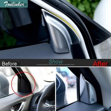 Tonlinker Cover Case Sticker for MAZDA CX5 2015-17 Car Styling 2pcs ABS Matte Front door triangular frame sticker Accessories