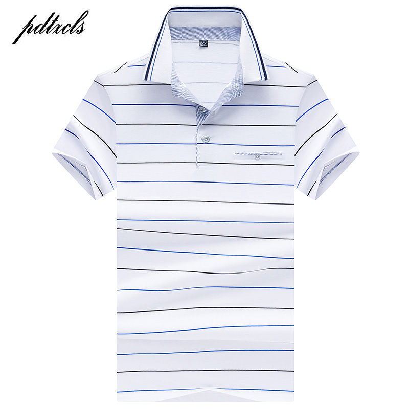 HOT High Quality Tops&Tees Men's Polo Shirts Business Men Brands Polo Shirts 3D Embroidery Turn-down Collar Mens Polo Shirt 8306