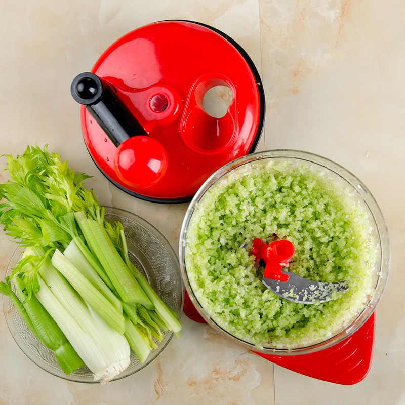 500ml-1.5L o dużej pojemności wielofunkcyjny kuchnia ręczne akcesorium do obróbki żywności maszynki do mielenia mięsa siekacz do warzyw rozdrabniacz do gałęzi, rębak do Cutter jajko Blender