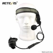 RETEVIS EH060K Tactical Headset 2Pin TK Plug Militare Wakie Talkie Auricolare Auricolare Auricolare Per Kenwood Baofeng UV5R/UV82/ RT81