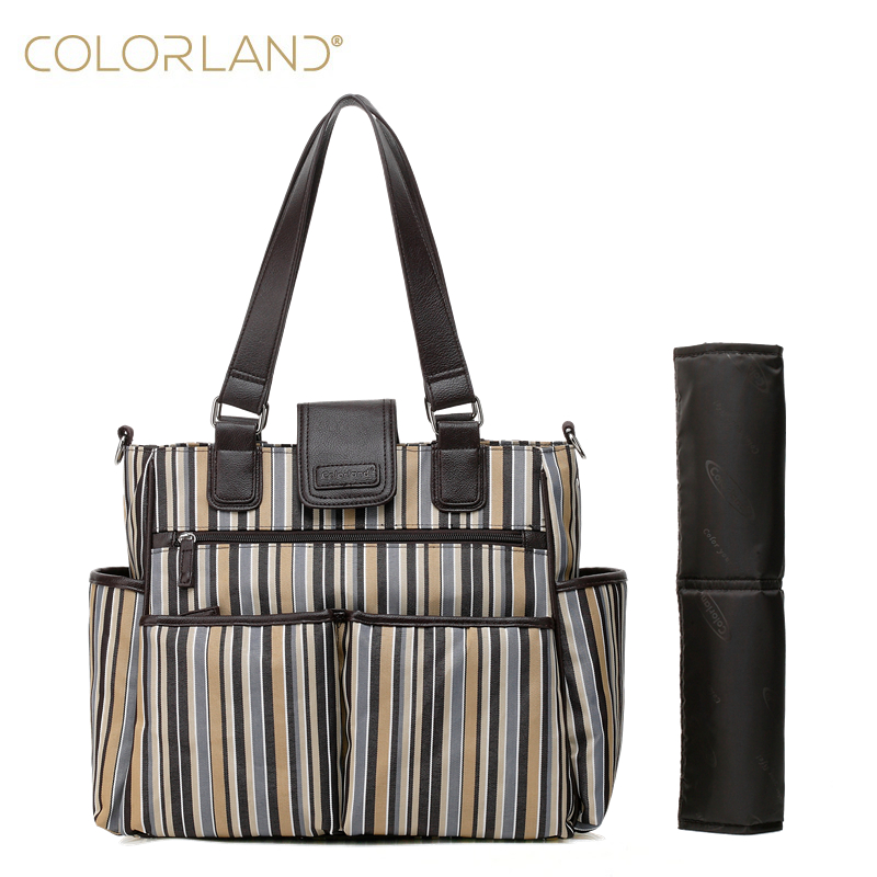 colorland 2pcs/lot baby stroller changing nappy diaper bag mummy maternity mother bags handbags for moms mochila maternidade 2017 new baby diaper bag for mom fashion mother maternity bag nappy bags sets mummy baby bag 3 colors