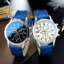 Бренд CMK бизнес для мужчин s часы повседневное роскошный кожаный ремешок для мужчин Blue Ray стекло кварцевые часы модные крутые часы Relogio Masculino