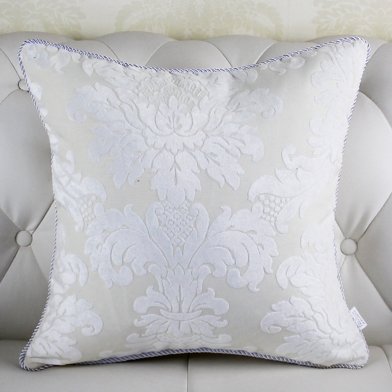 aliexpresscom buy high quality europe style white throw pillows decorative throw pillow big decorative pillow case almofada velvet cushion cover from - White Decorative Pillows
