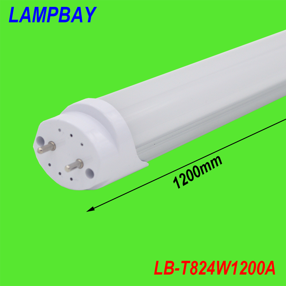 (20 Pack) Free Shipping 24W LED TUBE BULB T8 4FT 120cm Replace to fluorescent fixture Compatible with inductive ballast 85-277V 4 pack free shipping t5 integrated led tube 4ft 20w milky transparent cover surface mounted bulb comes with accessory 85 277v