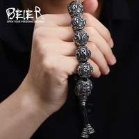 BEIER Fashion Men S High Polished Stainless Steel Buddhism Mantra Bracelet Bring Lucky Jewelry BC8 032