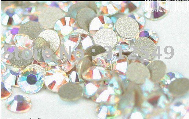 SS12 (3.0--3.2mm)--High Shine 1440pcs Crystal AB COLORFUL Nail rhinestones high quality 10Gross