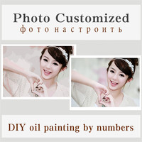 Customized Picture Painting By Numbers Modern Photo Diy Oil Cancas Art Coloring By Numbers Wedding Family