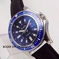 BLIGER 44mm Black Dial Men's Watch Ceramic Bezel Luminous Date Display Steel Case MIYOTA Automatic Movement|Mechanical Watches|   -