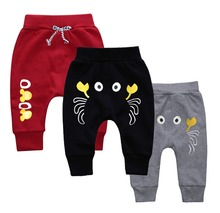Baby Boy Girl Kids Pants crab Pattern Children Harem Pants Summer Spring autumn Trousers Full-Length Sports Pants 1-4T Clothes