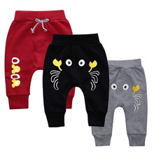 Baby Boys Girls Kids Pants 게 (eiffel tower) 패턴 어린이 하렘 Pants 여름 Pant 봄 가 바지 풀-Length 스포츠 Pants 1-4 T(China)
