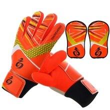 Высокое качество детские футбольные вратарские перчатки дышащая одежда вратарские перчатки 4 цвета