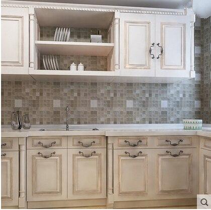 Cucina e bagno mosaico foglio di alluminio auto adhensive anti olio ...