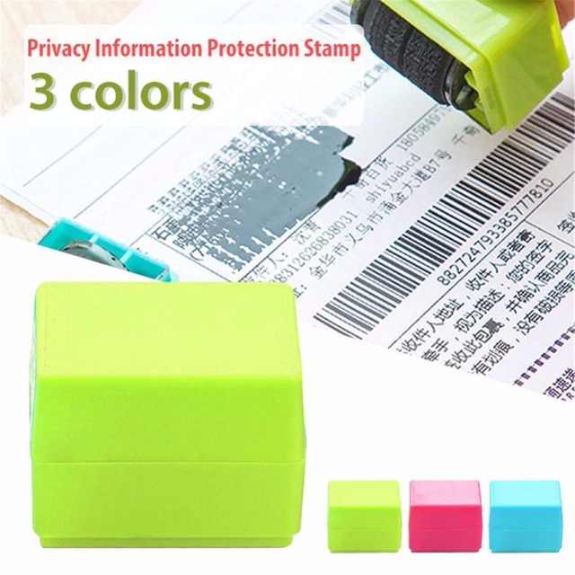3 Colors Safe Roller Stamper Identity Theft Protection Security Stamp Seal Self Guard ID 3
