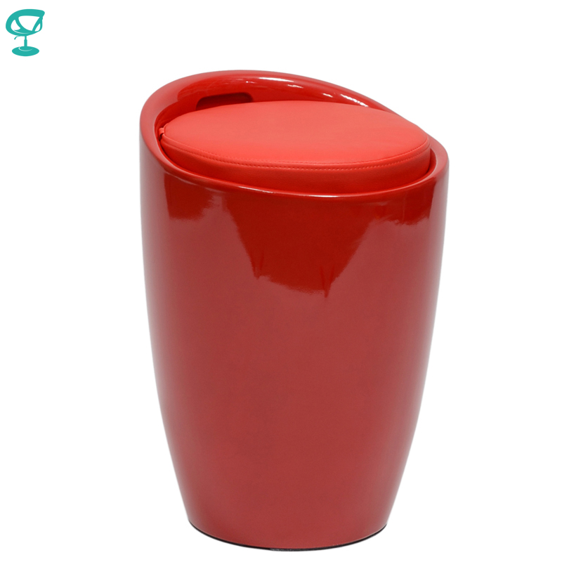 94903 Barneo N-13 Plastic Kitchen Breakfast Interior Stool Bar Chair Kitchen Furniture Red Free Shipping In Russia