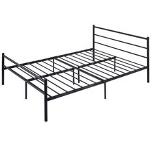 "Modern 77.5"" x 55.5"" x 35.0"" 10 Legs Metal Full Size Bed Frame Bedroom Furniture HW59407(China)"