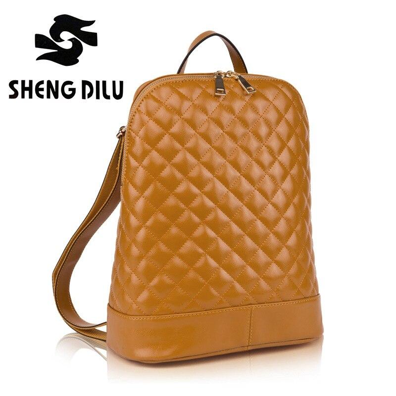 Korean 2016 New Elegant Women / Girls multifunction Genuine leather backpacks mochila feminina / mochilas school bags Backpack