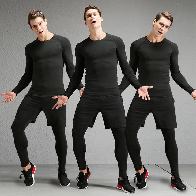 Medias fitness trajes 3 unids rápido seco deporte Medias ajustada corriendo  gimnasio yoga baloncesto entrenamiento de 589d55480a2d