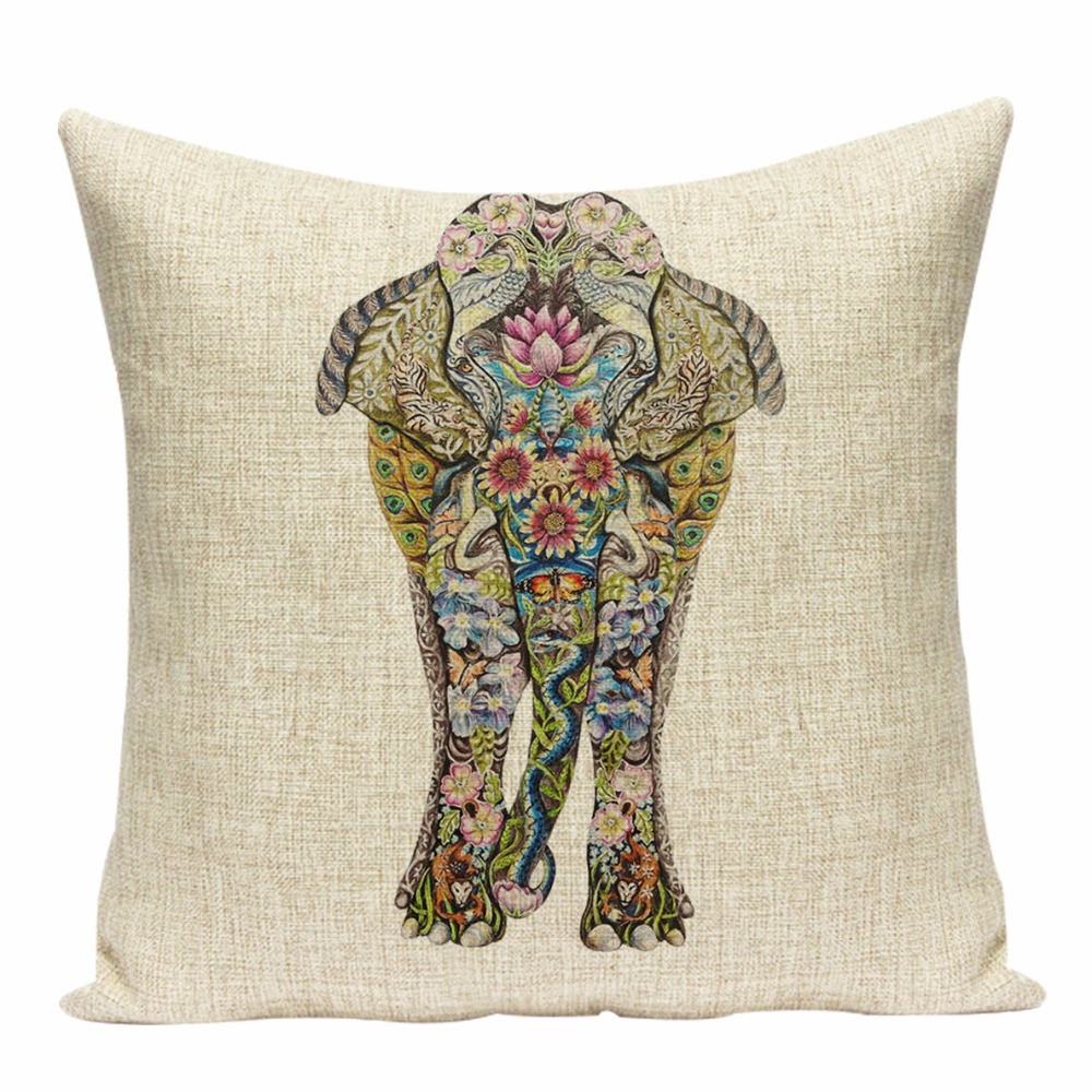 Elephant Cushion Cover Indian Cushions Home Decor Таңдамалы - Үй тоқыма - фото 5