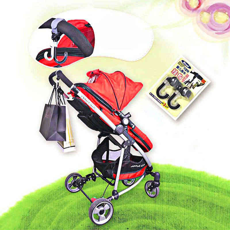 2 unids/set ganchos de cochecito para bebé de plástico ABS portátil cochecito de almacenamiento ganchos para bolsas percha para carrito de bebé accesorios para cochecito de ruedas