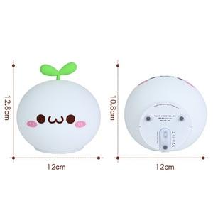Image 4 - Night Light Lamp USB LED Soft Silicon Touch Sensor Cartoon 5V 1200 mAh 8 Hours Working Kids Cute Night Light BP D PPD U