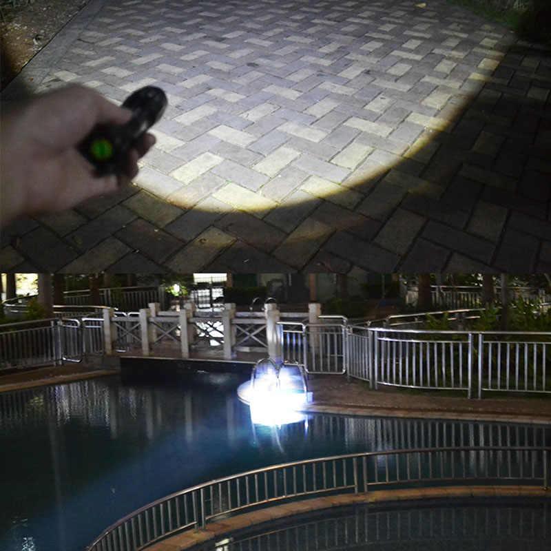 Светодиодный фонарик Мощный XML T6 перезаряжаемый светодиодный фонарик 3000 люмен масштабируемый 3-режим фонарь Водонепроницаемый для наружного Охота Велосипед