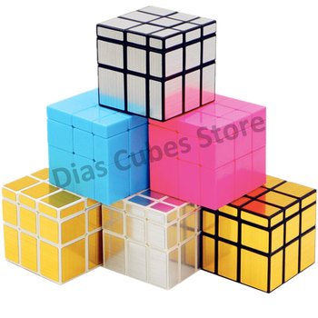 ShengShou Mirror Magic Cube professional 3x3x3 Gold&Silver cubo magico Puzzle Speed classic toys - discount item  28% OFF Games And Puzzles