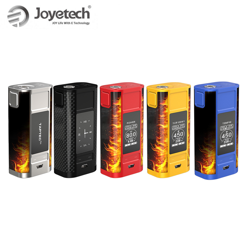 100% Original Joyetech QUADER TAP TC Mod Box Kit mit OLED display QUADER TAP Mod 228 W Batterie Box Mod e-cig Kit power durch 18650