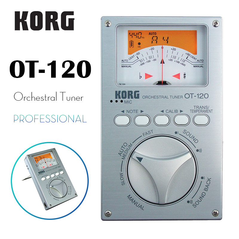 KORG OT-120 Professional Orchestral Tuner Chromatic Tuner Bass/Saxophone/ Violin/ Flute Tuner Universal Tuner korg ot 120 professional orchestral tuner chromatic tuner bass saxophone violin flute tuner universal tuner