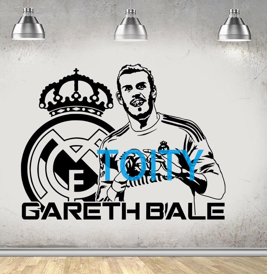GARETH BALE Vinyl Wall Sticker FC Footballer Mural Sport Decal Decor Art H58cm x W76cm