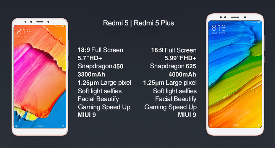 Redmi 5 ve 5 plus