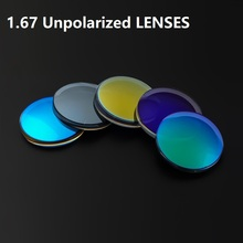 1.67 Unpolarized Tinted Lenses Eyewear Spherical Colorful Myopia Sunglasses Lenses Prescription Glasses Lens For Eyes Customized myopia tinted film eyeglass sunglasses lenses color dyed sheet gradient resin lenses large diameter custom prescription lenses