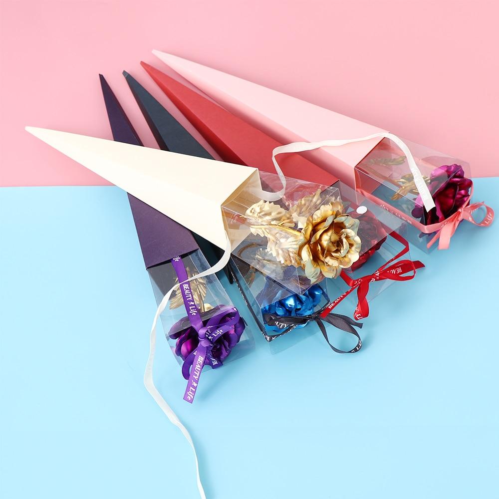 Gift Romantic 24K Gold Foil Rose Flower Handcraft Dipped Long Stem Mother/'s Day