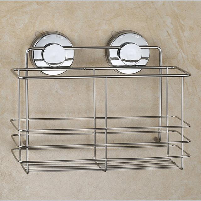 Strong Suction Shower Basket Dual Er Bathroom Shelf Washing Room Kitchen Corner