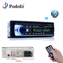 Podofo 12 V Auto Radio Stereo Bluetooth Remote Control Caricatore del telefono USB/SD/AUX-IN Audio MP3 Player 1 DIN In-Dash Car Audio JSD52