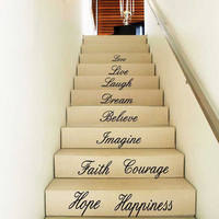 & Happy Gifts Beauty Hot Love Live Hope Laugh Wall Quote Decal Removable Stair home decor Wall Stickers Decor Vinyl stickers
