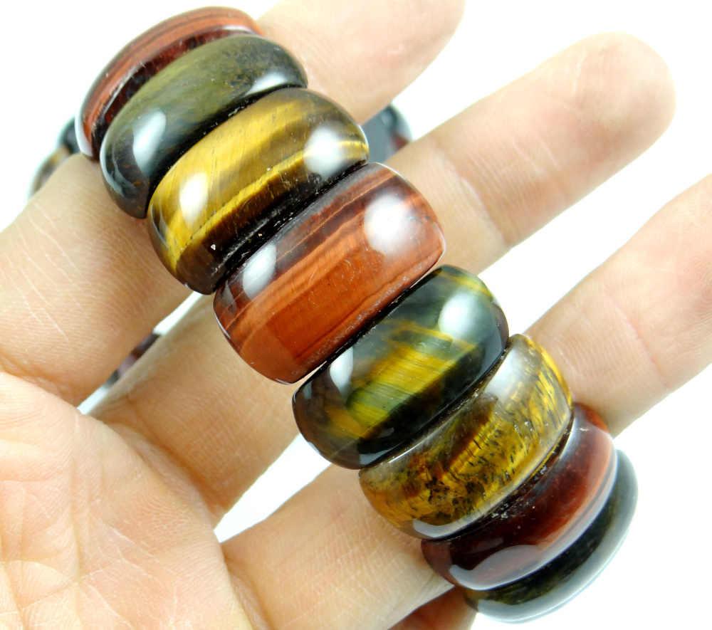 טבעי אבן ברדוריט טייגר עין קוורץ קריסטל חרוז צמיד DIY תכשיטי אנרגיה צמידים למתוח צמידי שרשרת לנשים