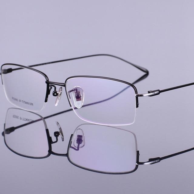 Black Gray Silver Gold New Men Optical Spectacle Ultra Light Frames Pure Titanium Glasses Frame
