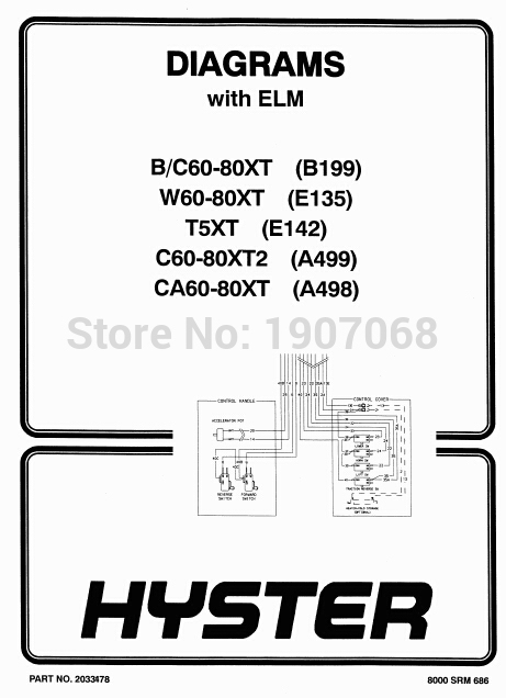 Hyster Forklift Truck Spare Parts Catalogs for FULL models