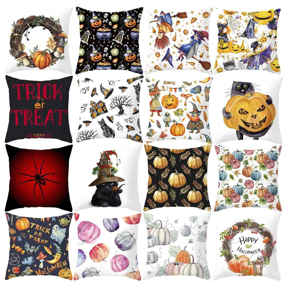 QIFU 45*45 cm Fronha Feliz Dia Das Bruxas 2019 Home Decoração de Halloween da Abóbora de Halloween Decoração Do Partido Acessórios Do Chuveiro Do Bebê