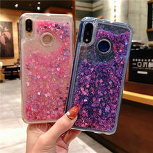 For Huawei P30 P20 Mate 10 20 Pro Nova 3 3i 4 4e Honor 9 View 20 10 Lite Glitter Liquid Quicksand Heart Star Soft TPU Cover Case(China)