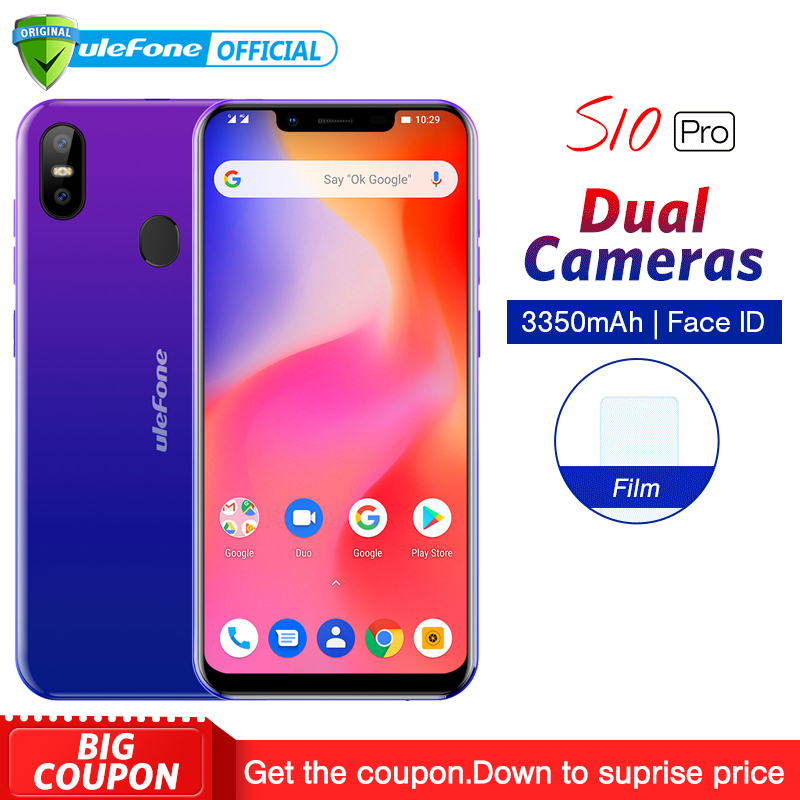 Ulefone S10 Pro Mobile Phone Android 8.1 5.7 inch 19:9 MT6739 Quad Core 2GB RAM 16GB ROM 13MP+5MP Face Unlock 4G Smartphone nokia 8 new 2018