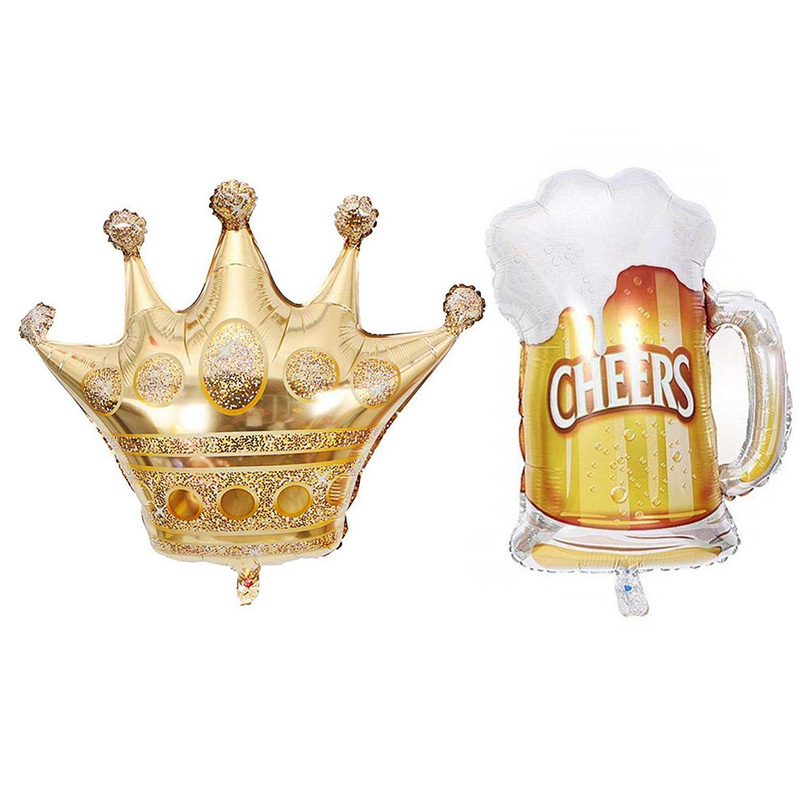 1pcs Foil Champagne Bottle/Beer Cup/Birthday Cake Balloons For Wedding Decorations 5