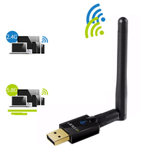 802.11AC 600Mbps 2.four/5Ghz Wifi Adapter Wi-fi Antenna PC Community Card wi-fi USB Ethernet LAN Receiver 2.4G/5G Quick Lengthy Rang
