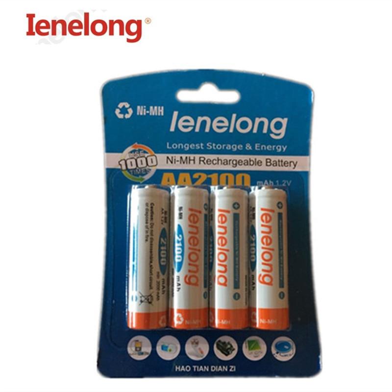 4pcs/lot Original AA 1.2V 1600mAhIenelong rechargeable AA Ni-MH battery
